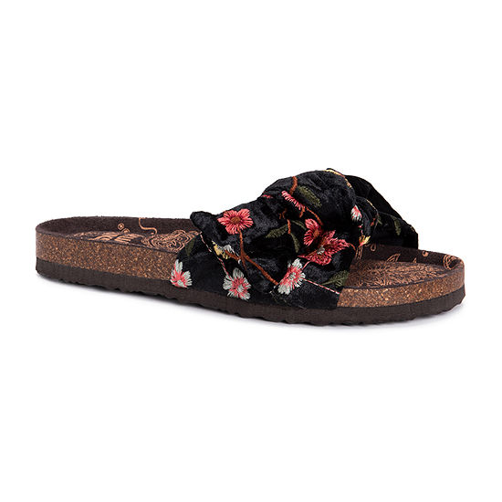 Muk Luks Womens Faun Flat Sandals