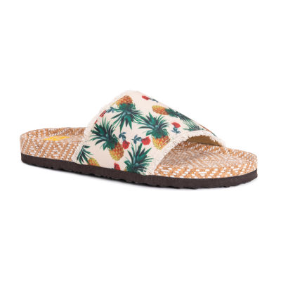 Muk Luks Womens Brooke Flat Sandals