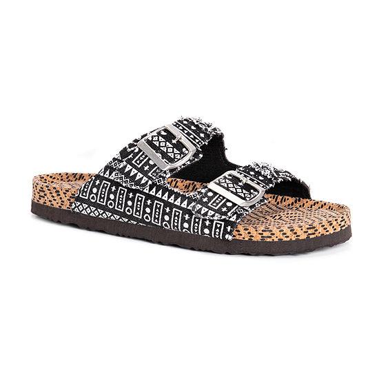 Muk Luks Womens Juliette Flat Sandals