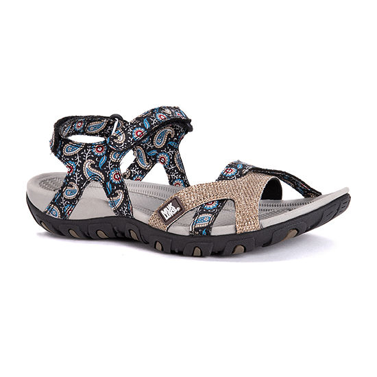 Muk Luks Womens Ophelia Ankle Strap Flat Sandals