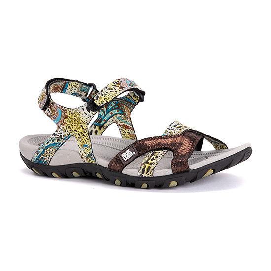 Muk Luks Womens Ophelia Ankle Strap Flat Sandals