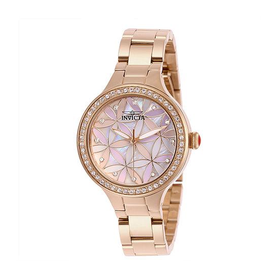 Invicta Womens Rose Goldtone Bracelet Watch-28824