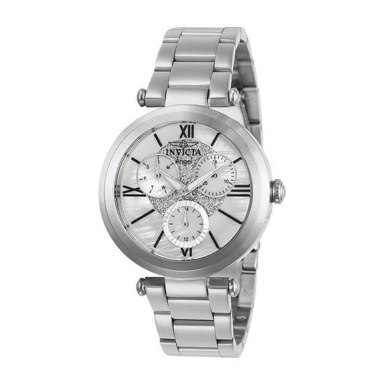 Invicta Angel Womens Silver Tone Bracelet Watch-28924