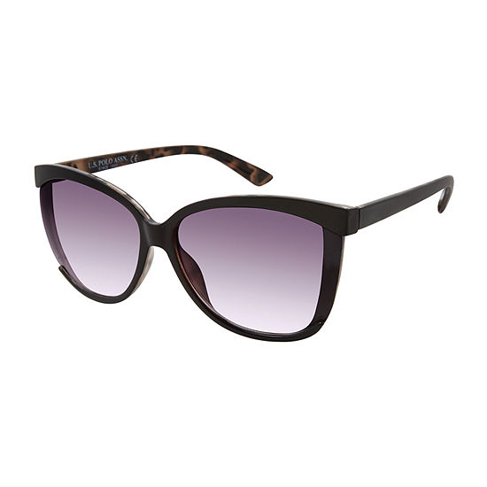 Us Polo Assn. Womens Full Frame Cat Eye UV Protection Sunglasses