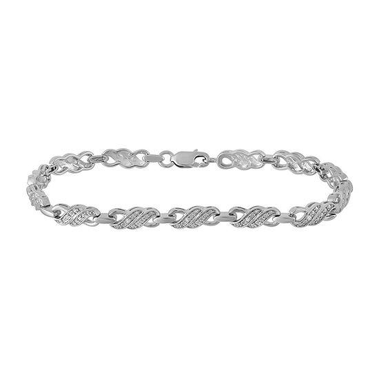 Catalog Internet 1/10 CT. T.W. Genuine White Diamond Sterling Silver 7.25 Inch Tennis Bracelet