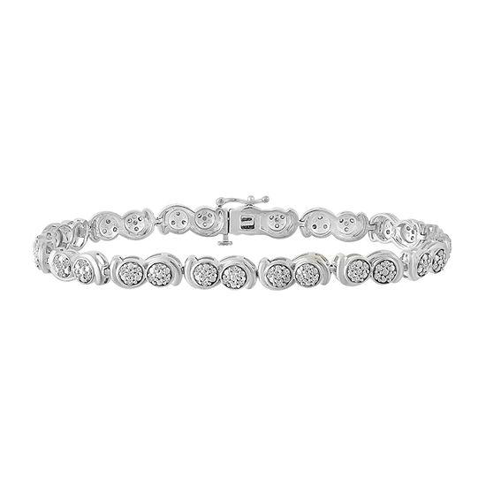 Catalog Internet 1/4 CT. T.W. Genuine White Diamond Sterling Silver 7.25 Inch Tennis Bracelet