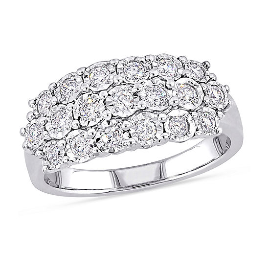 1/2 CT. T.W. Genuine White Diamond Sterling Silver Band