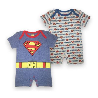 Superheroes Short Sleeve Superman Romper Boys