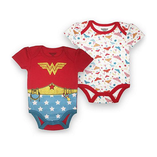 2-pc. Wonder Woman Bodysuit-Baby Girls