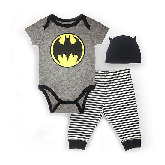 35dc598cca5 3-pc. Batman Baby Clothing Set Boys - JCPenney