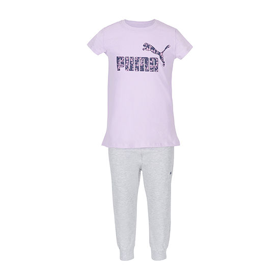 Puma Girls 2-pc. Tonal Pant Set