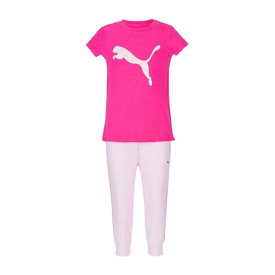 Puma Girls 2-pc. Tonal Pant Set