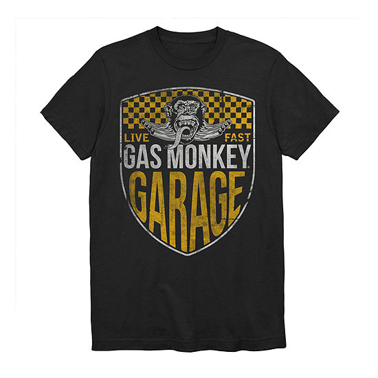 Gas Monkey Mens Crew Neck Short Sleeve Music Graphic T-Shirt-Big and Tall