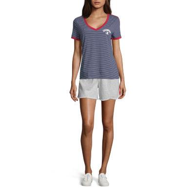 Champion-Womens V Neck Short Sleeve T-Shirt