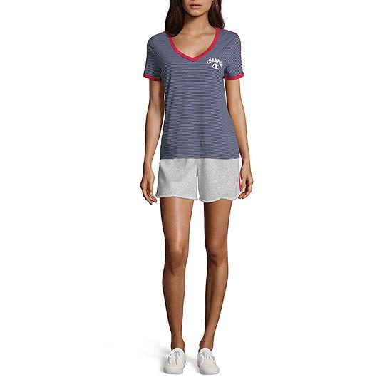 Champion Womens V Neck Short Sleeve T-Shirt