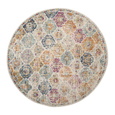 Safavieh Madison Collection Sally Geometric Round Area Rug