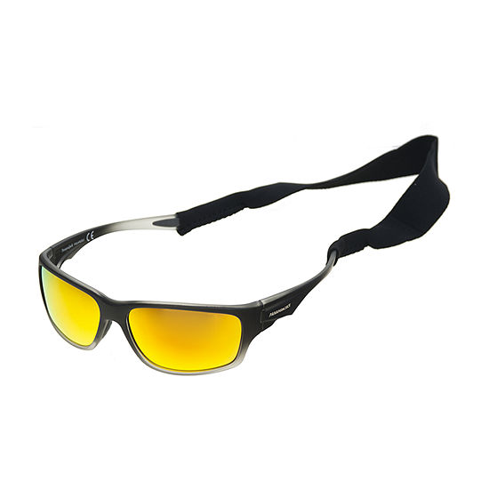 Panama Jack Mens Polarized Full Frame Wrap Around Sunglasses