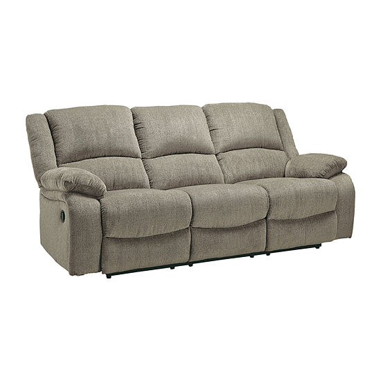Signature Design by Ashley Dryden Collectoin Pad-Arm Reclining Sofa
