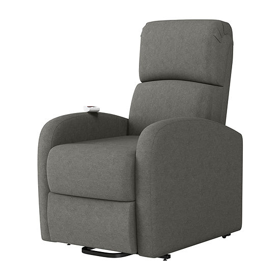 Heat And Massage Lift Recliner w/Curved Slope-Arm