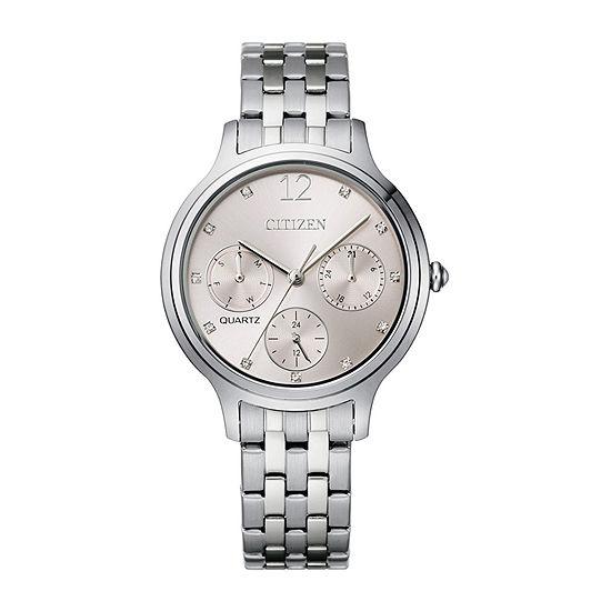 Citizen Quartz Womens Silver Tone Stainless Steel Bracelet Watch-Ed8180-52x