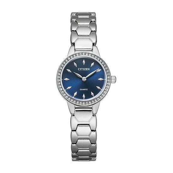 Citizen Quartz Womens Silver Tone Stainless Steel Bracelet Watch-Ez7010-56l