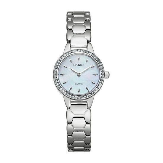 Citizen Quartz Womens Silver Tone Stainless Steel Bracelet Watch-Ez7010-56d