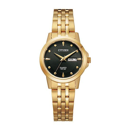 Citizen Quartz Womens Gold Tone Stainless Steel Bracelet Watch-Eq0603-59f