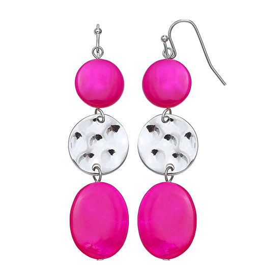 Mixit Pink Drop Earrings