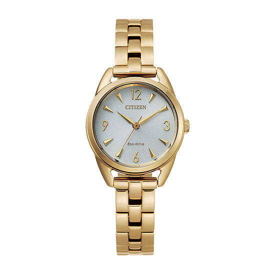 Drive from Citizen Womens Gold Tone Stainless Steel Bracelet Watch-Em0682-74a