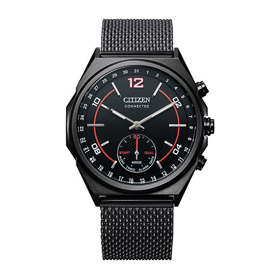 Citizen Men's Connected Black Stainless Steel Bracelet Watch-CX0005-78E