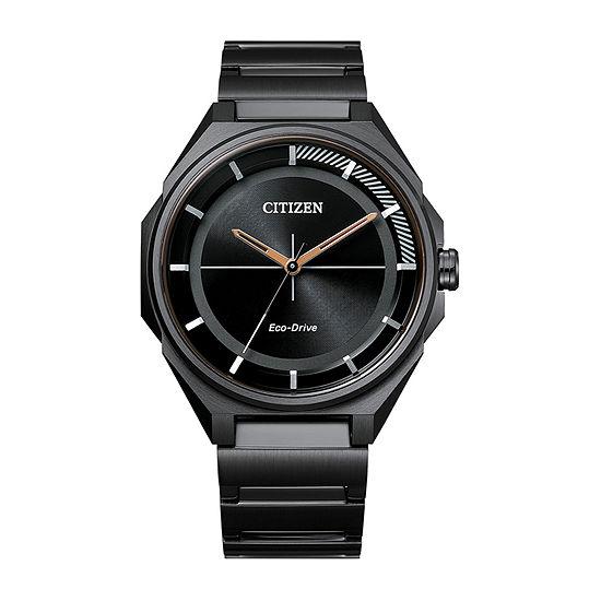 Drive from Citizen Mens Black Stainless Steel Bracelet Watch-Bj6535-51e