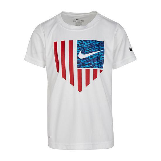 Nike Little Boys Dri-Fit Round Neck Short Sleeve Graphic T-Shirt