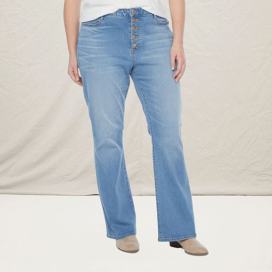 a.n.a-Plus Womens High Rise Flare Jean