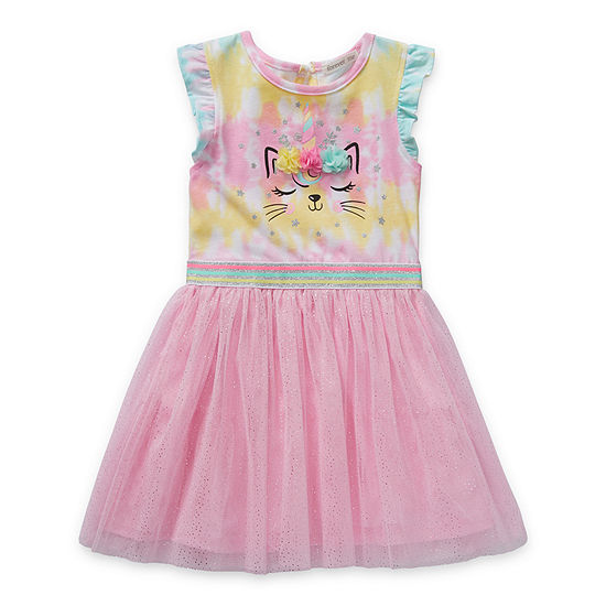 Forever Me Toddler Girls Short Sleeve Tutu Dress