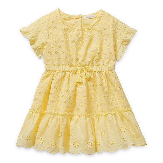 Forever Me Forever Me - Toddler Girls Short Sleeve Empire Waist Dress