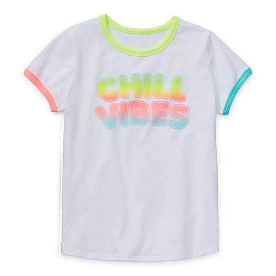 Arizona - Little Kid / Big Kid Girls Round Neck Short Sleeve Graphic T-Shirt