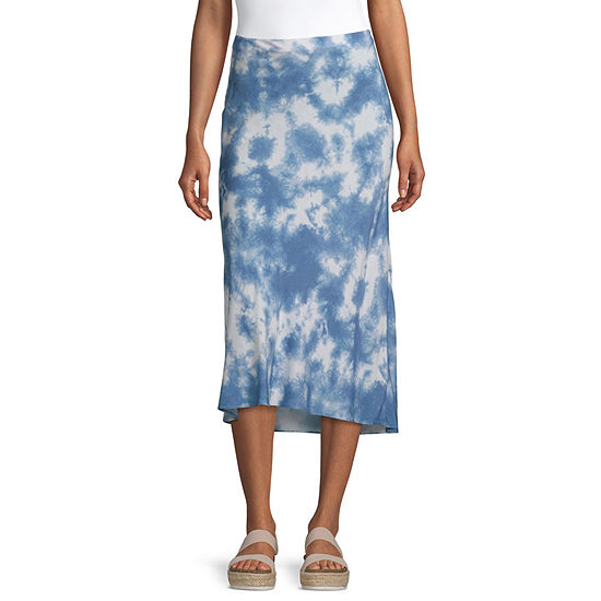 by&by Womens Midi A-Line Skirt-Juniors