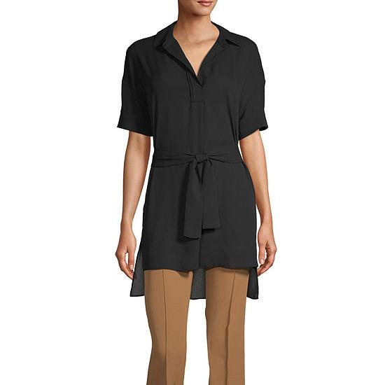 Worthington Womens Short Sleeve Tunic Top
