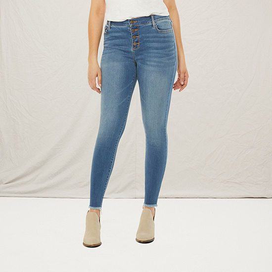 a.n.a Womens High Rise Button Fly Jegging -Tall