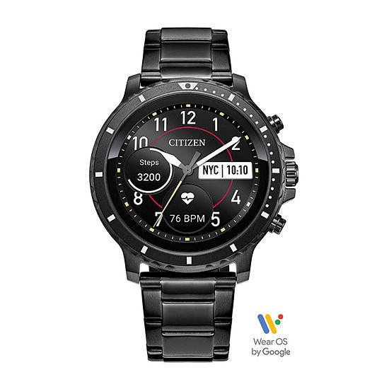Citizen CZ Smart HR Smartwatch 46mm Grey IP Stainless Steel Watch, Powered by Google Wear OS - Mx0007-59x