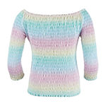 Knit Works Little & Big Girls Round Neck Long Sleeve Blouse