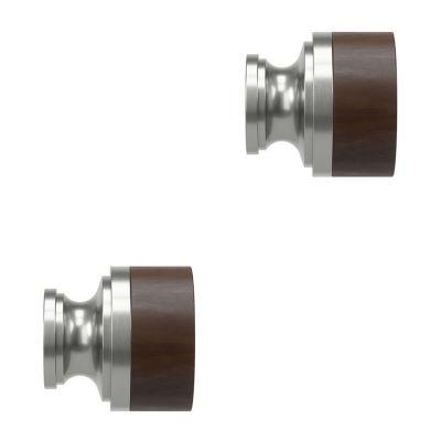 Umbra Mix & Match Wood Cap 2-pc. Finials