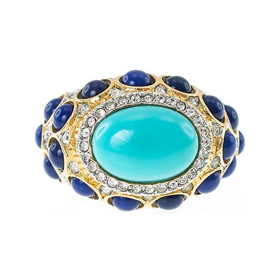 KJL by KENNETH JAY LANE Gold-Tone Aqua & Blue Stone Ring