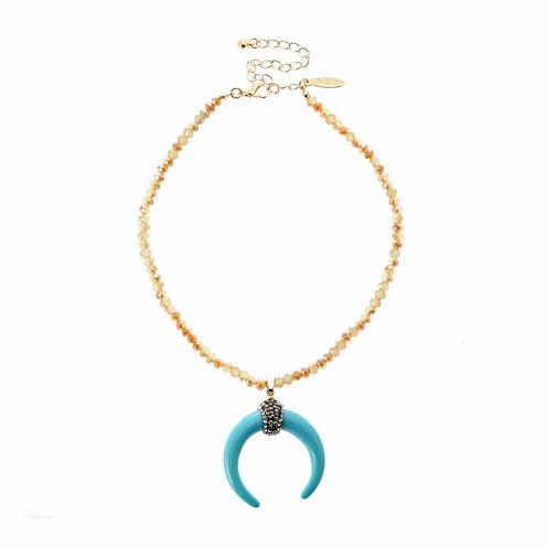 Natasha Accessories Womens Blue Choker Necklace