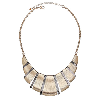 Bold Elements™ Mixed-Metal Textured Collar Necklace