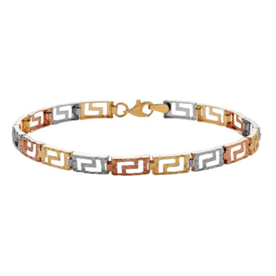 14K Gold 7.5 Inch Stampato Link Bracelet