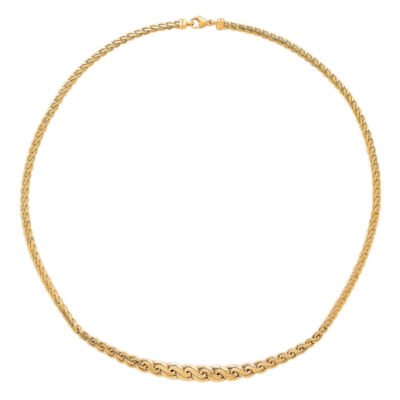 """Made In Italy Womens 14K Gold 16.75"""" Link Necklace"""
