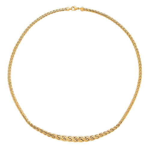 "Made In Italy Womens 14K Gold 16.75"" Link Necklace"