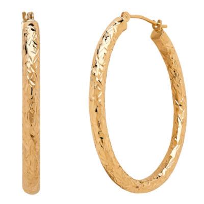Infinite Gold 14K Gold 35mm Hoop Earrings