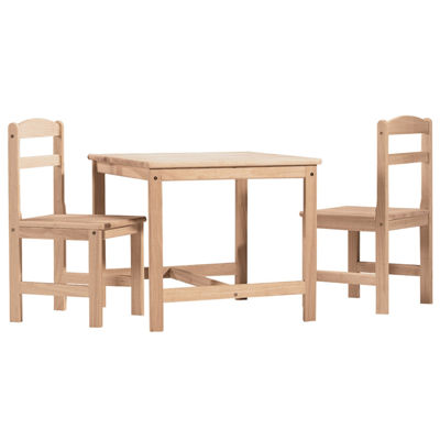 3-Pc. Kids Table and Chair Set - Natural